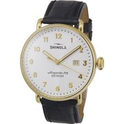 Shinola The Canfield White Dial Leather Strap Men's Watch 20001938