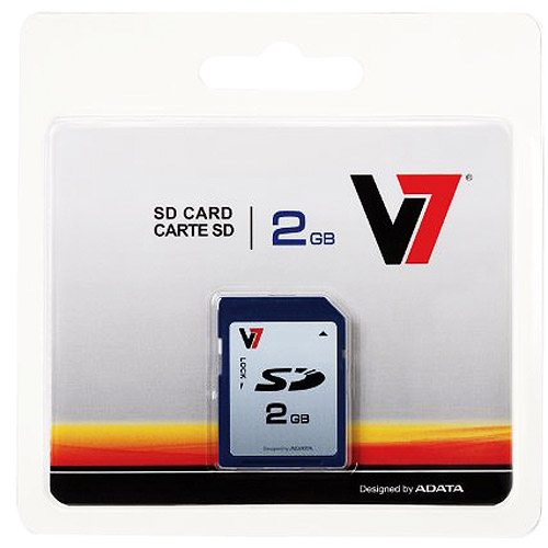 V7 2GB SD Card, Secure Digital 2 GB Memory Card