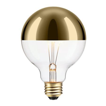 Globe Electric 40w Gold Designer Vintage Edison Oro Incandescent Light Bulb 84649