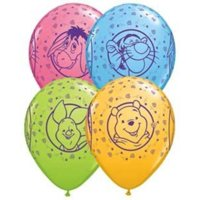 """- 11"""" Winnie the Pooh, Tigger, Piglet & Eeyore Latex Balloons Bag of 2511 Winnie the Pooh, Tigger, Piglet & Eeyore Latex Balloons Bag of 25 By Single Source Party Supplies"""