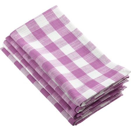 Saro Gingham Dinner 20'' Napkin (Set of 4) (Lilac Napkins)