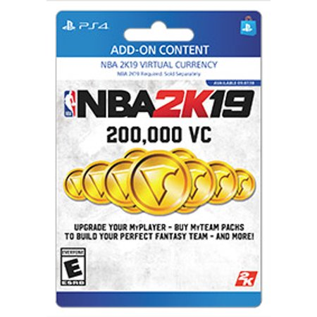 NBA 2K19 200,000 VC, 2K Games, Playstation, [Digital Download]