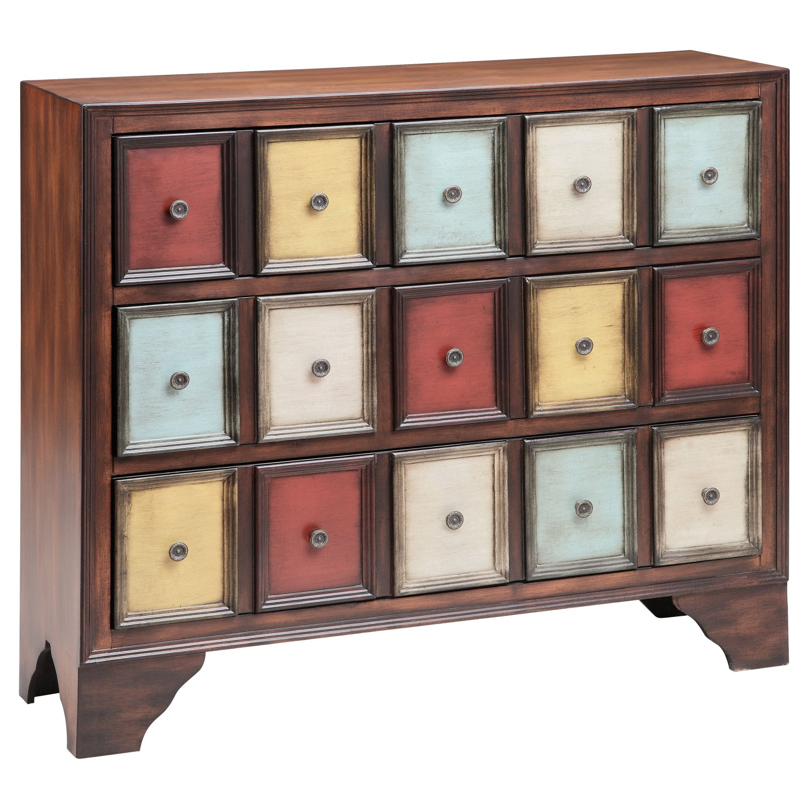 Stein World 12367 3-Drawer Multi-Color Chest