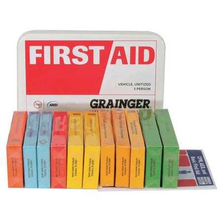 Z019847 First Aid Kit  Unitized  White  9Pcs  10 Ppl