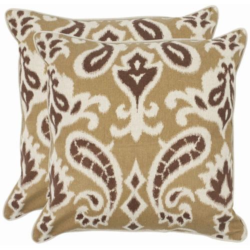 Safavieh Brian Cotton Throw Pillow (Set of 2)