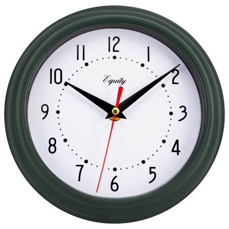 Equity By La Crosse 25019 8 Inch Hunter Green Analog Wall (Moss Green Rose Clock)