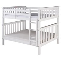 Santa Fe Mission Tall Bunk Bed Full over Full - Attached Ladder - Multiple Finishes