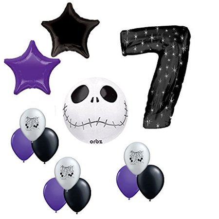 Jack Skellington Party Supplies 7th Birthday Balloon Decoration Kit