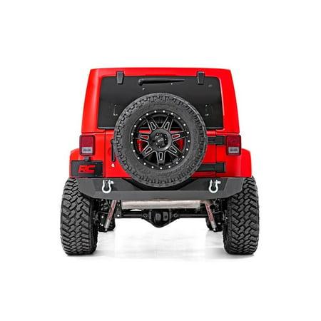 - Rough Country Offroad Rock Crawler Rear Bumper (fits) 2007-2018 Jeep Wrangler JK Includes D Rings 10593 Rock Crawler