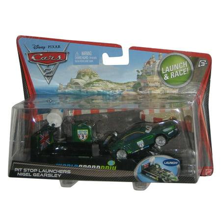 - Disney Pixar Cars 2 Pit Stop Launchers Nigel Gearsley Launch & Race Toy Car Set