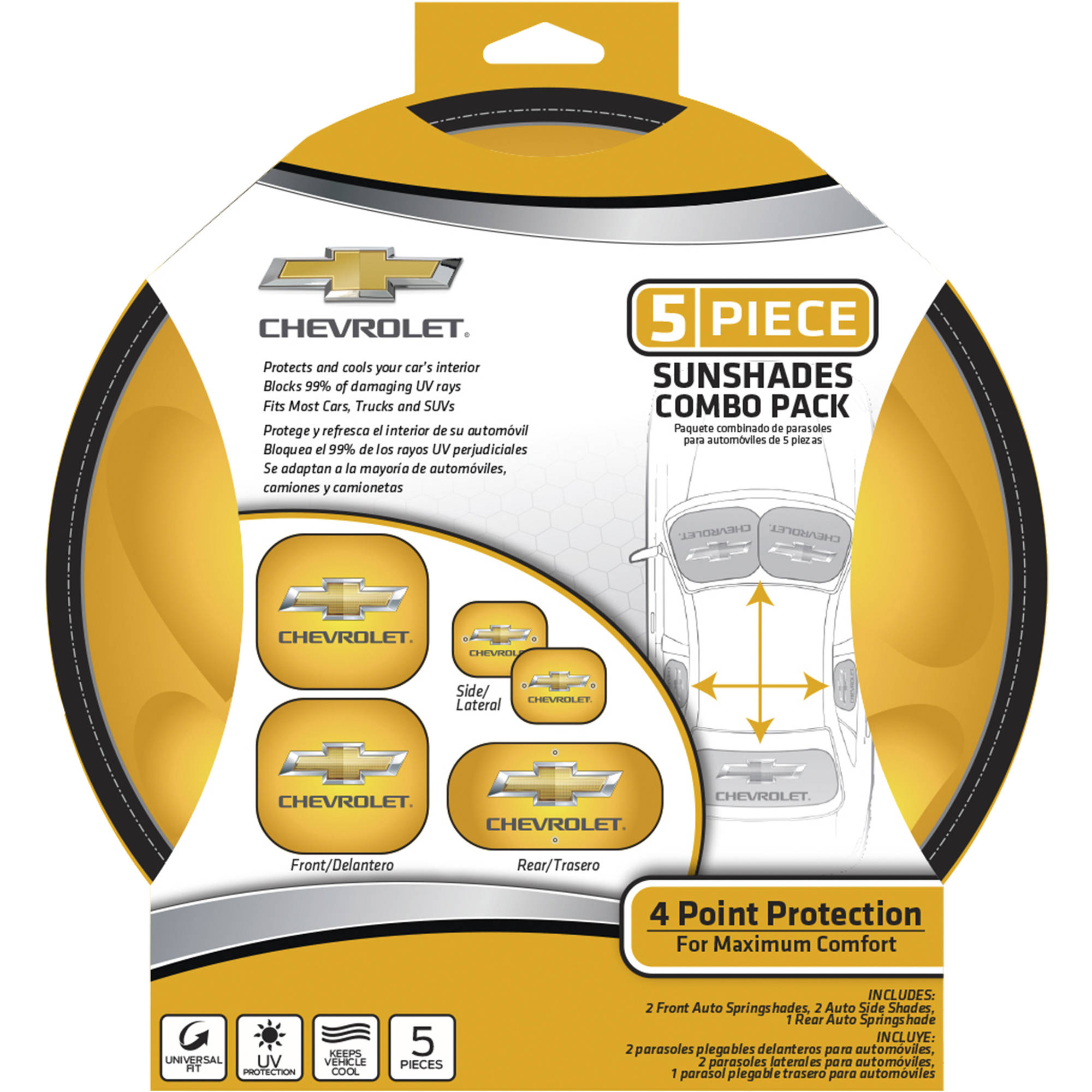 Chevy 5-piece Sunshade