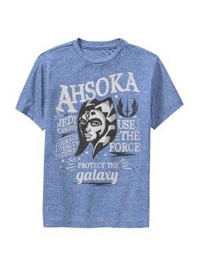 Star Wars: The Clone Wars Boys' Clone Wars Star Wars Ahsoka Head Shot Quote Collage Performance T-Shirt