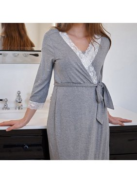 2019 Womens Lace Pregnants Casual Nursing Baby For Maternity Pajamas Night-Rob Dress