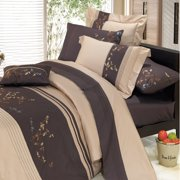 Luxury Soft 100% Cotton 3 Piece Duvet Cover Set Embroidered - King/California King - Celeste