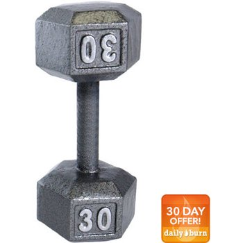 CAP Barbell 30lb Cast Iron Hex Dumbbell