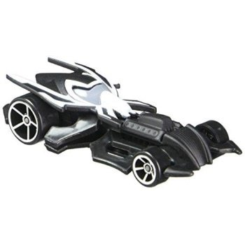 Hot Wheels, Marvel Character Car, Spider-Man Black Costume #22, 1:64 Scale - Black Character Costumes