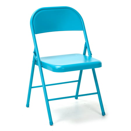 Novogratz All Steel Folding Chair, 2 pack, Multiple Colors](Diy Folding Chair)