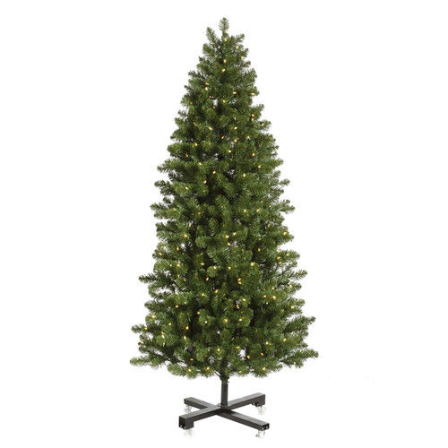 Vickerman Grand Teton 9.5' Slim Green Artificial Christmas Tree with 1000 LED White Lights