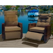 Outdoor Recliners in Brown - Set of 2