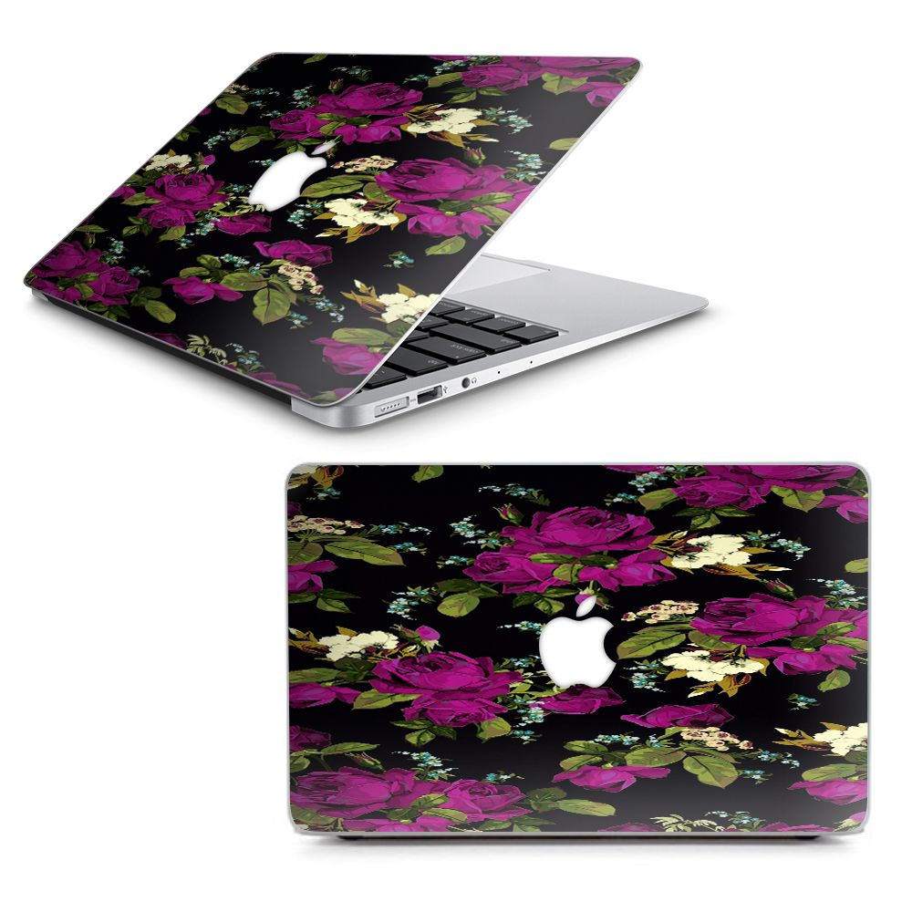 """Skins Decals for MacBook Air 13"""" A1369 A1466 / Rose Floral Trendy"""