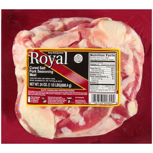 Royal Cured Salt Pork Seasoning Meat, 24 oz