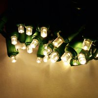ALEKO Christmas Holiday Indoor/Outdoor Traditional String Lights - 50 LED - 50 Foot - Warm White