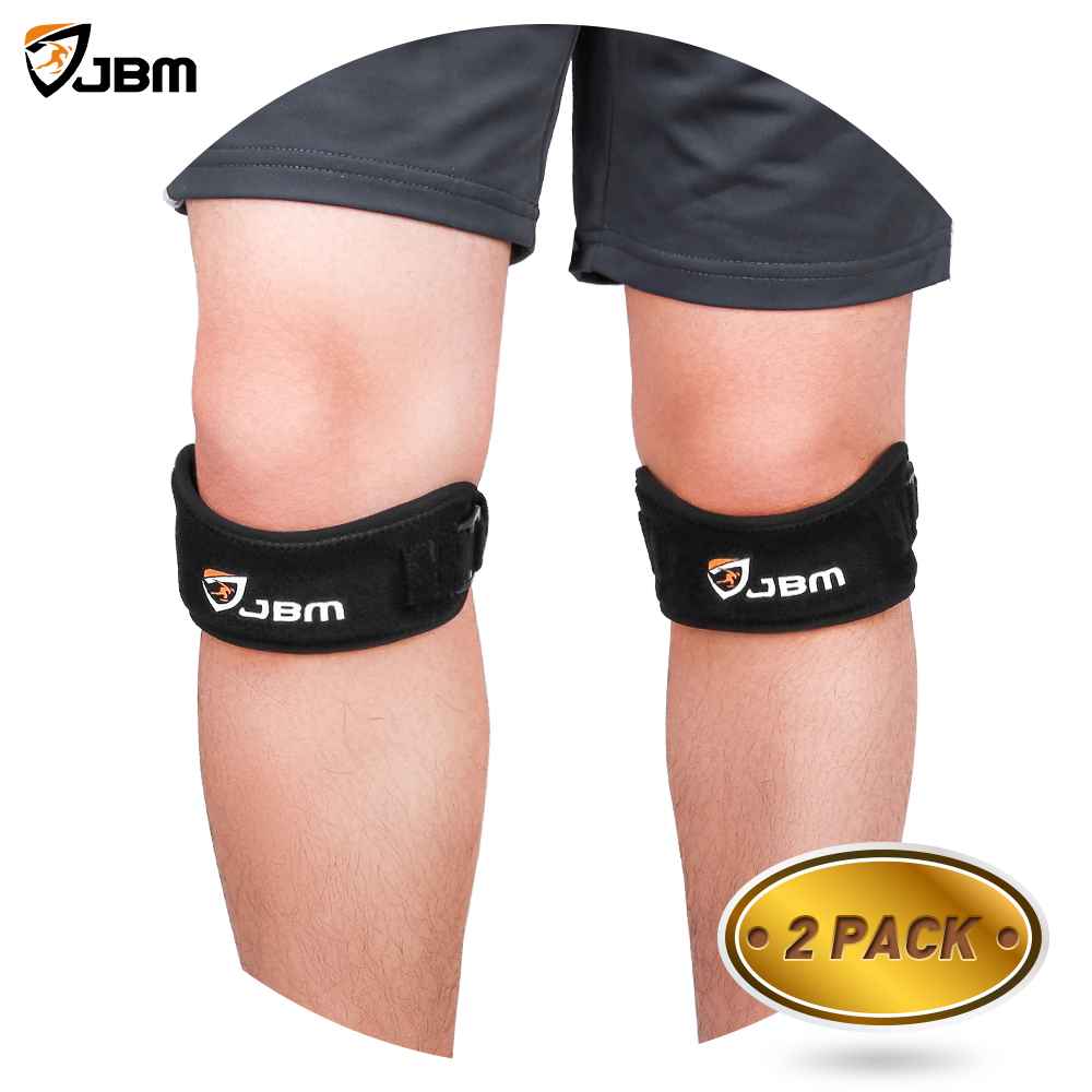 JBM 2 Pack Knee Band Patellar Tendon Support Strap Running Youth Growing Knee Pain Relief for Running, Hiking, Soccer, Basketball, Volleyball, Squat, Weightlifting