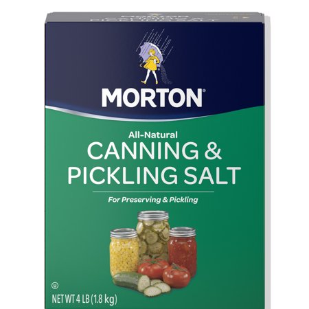 (2 pack) Morton Canning & Pickling Salt, 4 Lbs