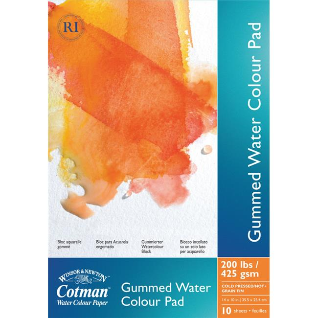 Winsor & Newton 6654567 5 inch x 8 inch Cotman Watercolor Paper Gummed Pads