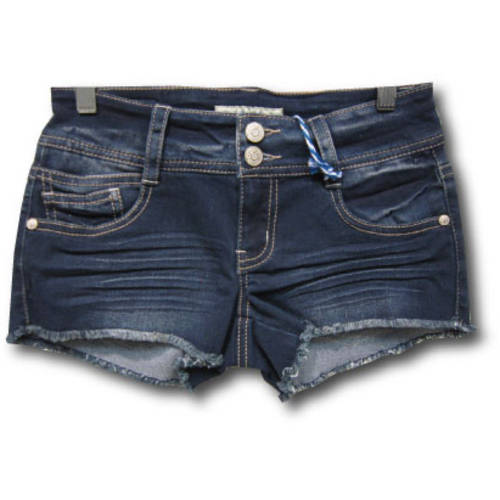 Juniors' Fray Hem 2.5 Denim Shorts