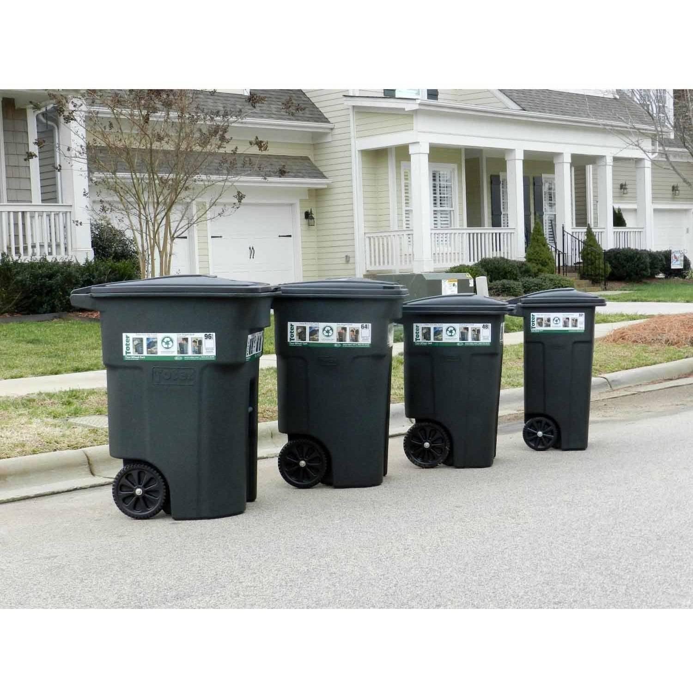 4aafd2124b9d82 Toter 96 Gal. Trash Can Blackstone with Wheels and Lid - Walmart.com