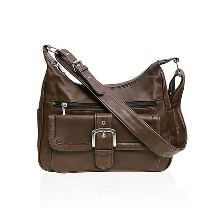 AFONiE  Collection Timeless Genuine Leather Shoulder Handbag Deep Red Leather Handbag