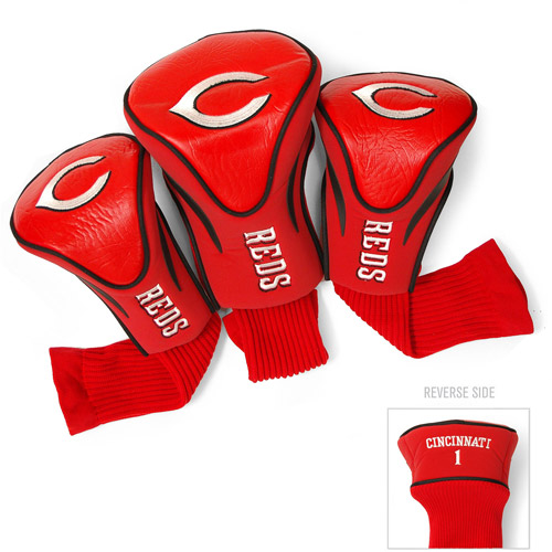 Team Golf MLB Cincinnati Reds 3 Pack Contour Head Covers