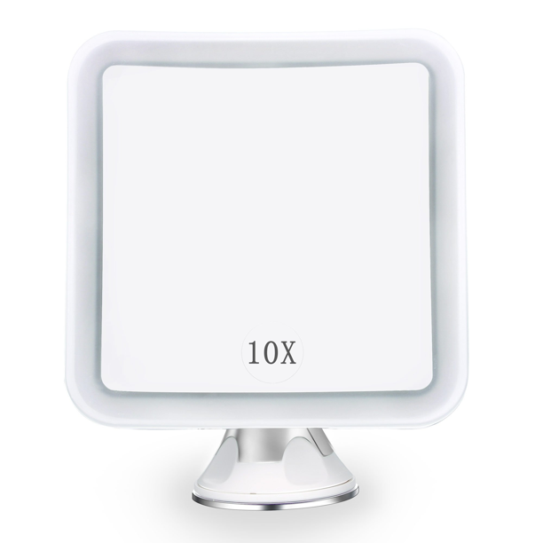 10X MAGNIFYING LIGHTED MAKEUP MIRROR Daylight LED Vanity Bathroom Travel Compact - Walmart.com - Walmart.com