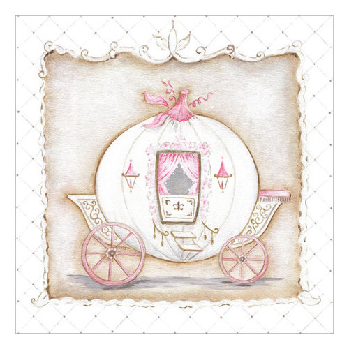 Oopsy Daisy's Little Princess Carriage I Canvas Wall Art, 10x10