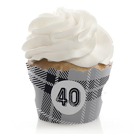 Milestone Party (40th Milestone Birthday - Party Cupcake Wrappers - (Set of)