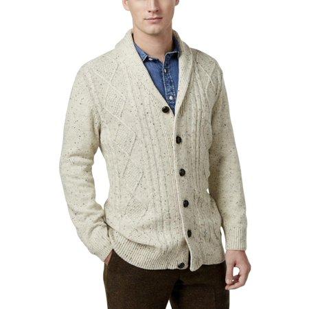 af01a6440 Tricots St. Raphael - Tricots St. Raphael Mens Big   Tall Cable Knit  Button-Down Shawl-Collar Sweater - Walmart.com