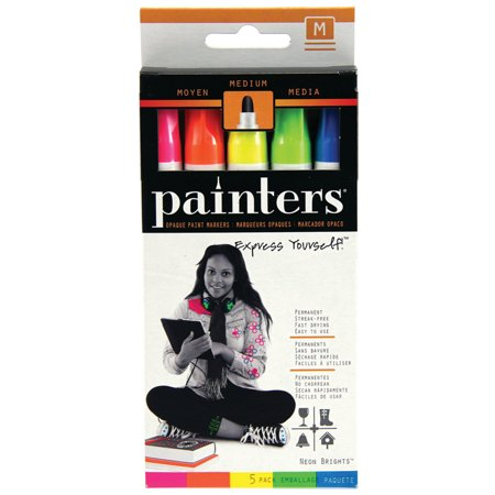 Elmer's Painters Opaque Paint Marker Set, Medium, Neon Colors