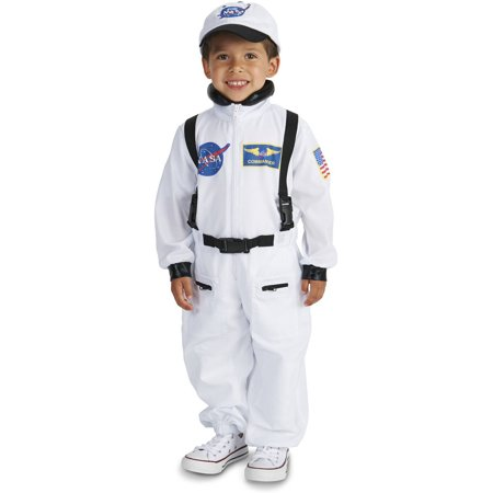 White Astronaut Suit Toddler Halloween Costume, Size 3T-4T