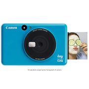 "Canon IVY CLIQ Instant Camera Printer, Mini Photo Printer with 2""X3"" Sticky-Back Photo Paper(10 Sheets), Seaside Blue"