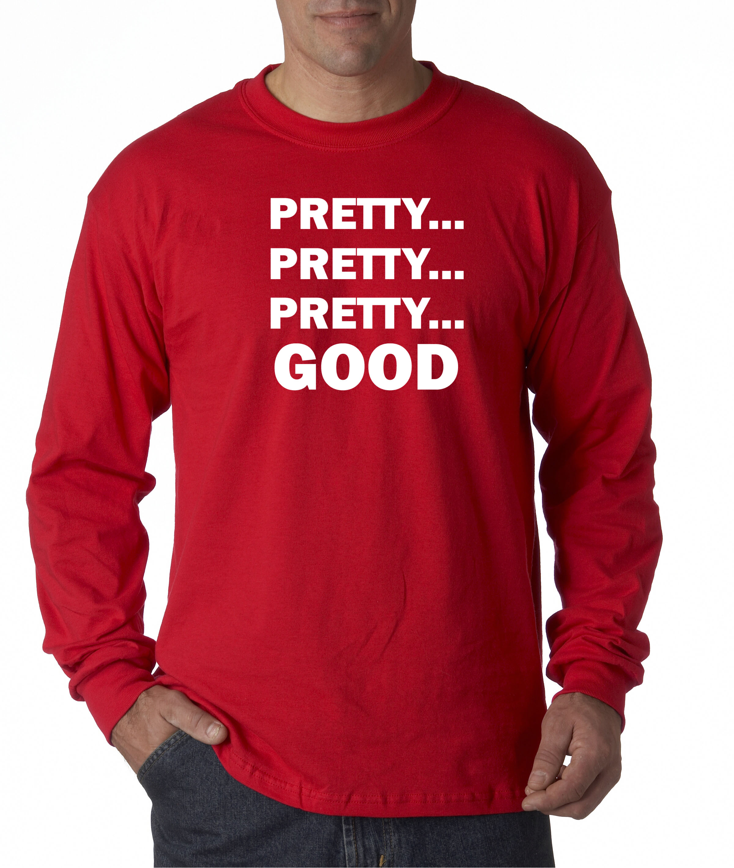 d8c6d6f55 New Way - 767 - Unisex Long-Sleeve T-Shirt Pretty Pretty Pretty Good Curb  Your Enthusiasm XL Red - Walmart.com