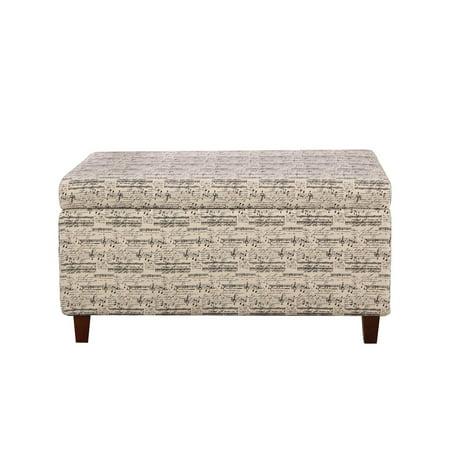 Pattern Upholstered Ottoman - Symphony Patterned Deep Storage Ottoman Bench