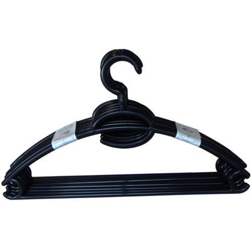 10-Pack Plastic Hanger, Black