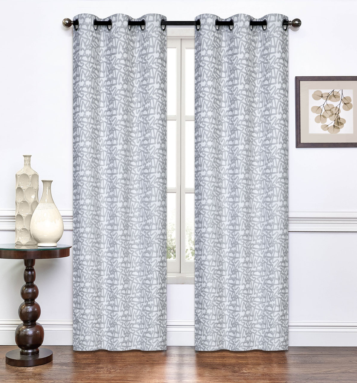 Pair Of Annette Window Curtain Panels W