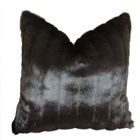 """Plutus Tip Dyed Brown-Mink Handmade Throw Pillow, (Double sided 20"""" x 20"""") - image 1 de 1"""