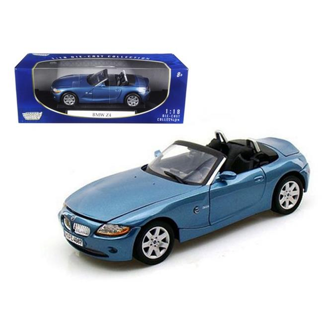 Bmw Z4 Convertible Price: BMW Z4 Convertible Blue 1-18 Diecast Model Car