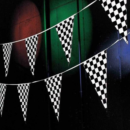 Racing Pennant Flag Banners Black White Checkered Nascar Race Car Party Decor 100ft Great