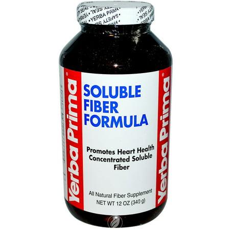 Yerba Prima Soluble Fiber Formula 12 Ounce, Pack of 2