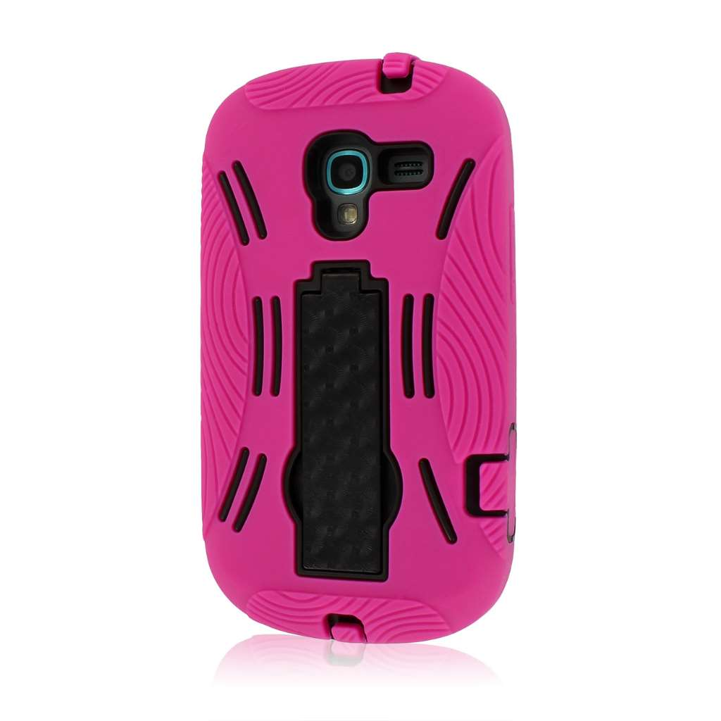 MPERO IMPACT XL Series Kickstand Case for Samsung Galaxy Exhibit T599 - Hot Pink