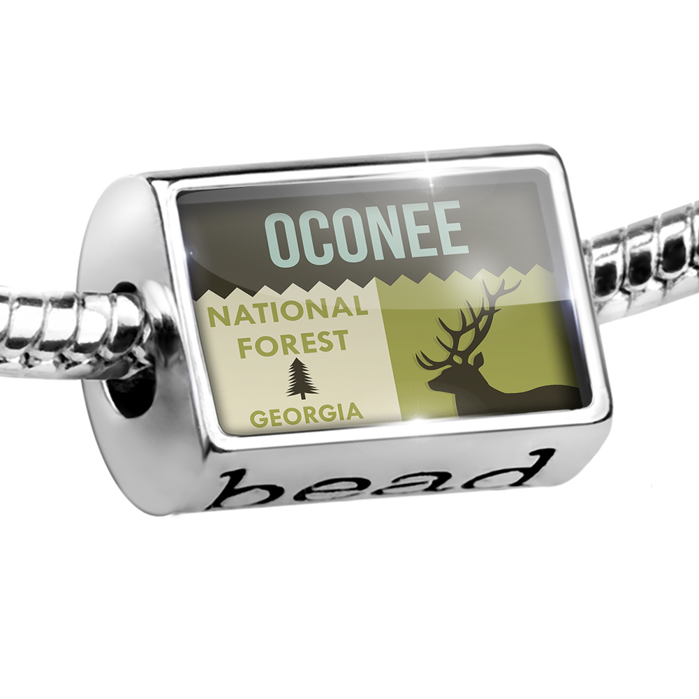 Bead National US Forest Oconee National Forest Charm Fits All European Bracelets